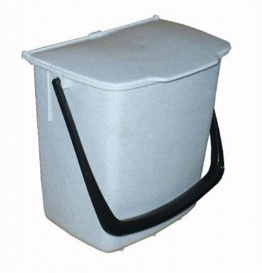 Odpadkový koš Kbelík, bílý