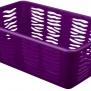 Plastový košík zebra fialový