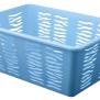 Plastový košík zebra modrý