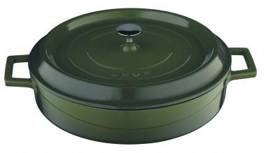 Litinový hrnec Lava nízký 28cm zelený