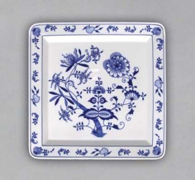 Cibulák talíř čtyřhranný 27,5 cm