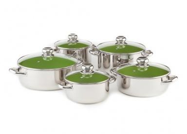 Sada nádobí KOLIMAX CERAMMAX PRO STANDARD, 10 dílů, zelená
