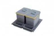 Sinks PRACTIKO 600 Odpadkový koš, 2x15 l + 2x miska