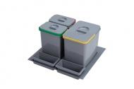 Sinks PRACTIKO 600 Odpadkový koš, 1x15l+2x7l+2xmiska