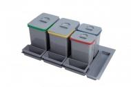 Sinks PRACTIKO 900 Odpadkový koš, 2x15l+2x7l+3xmiska