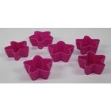 formička HVĚZDIČKA silikon mix barev (6ks)