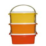 jídlonosič 3x1,2l hranatý 17x15x18,5cm PH mix barev