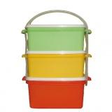 jídlonosič 2x1,2l + 1x1,4l hranatý 17x15x20cm PH mix barev