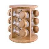 kořenka BRILLANTE skl.+dřev.(12ks) s otoč.stojánkem dřev.