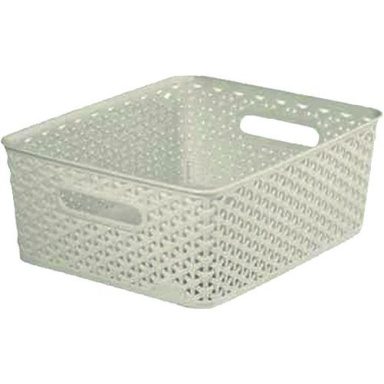 """box úložný RATTAN 35x30x13cm (M),""""Y"""" STYLE, PH KRÉM"""