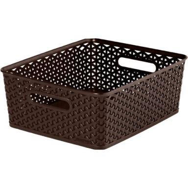 """box úložný RATTAN 35x30x13cm (M),""""Y"""" STYLE, PH HN"""