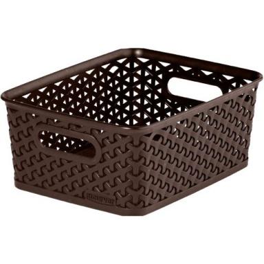 """box úložný RATTAN 25x20x10cm (S),""""Y"""" STYLE, PH HN"""