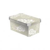 box úložný ROMANCE 29,5x19,5x13,5cm (S) s víkem, PH