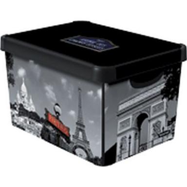 box úložný PARIS 39,5x29,5x25,0cm (L) s víkem, PH