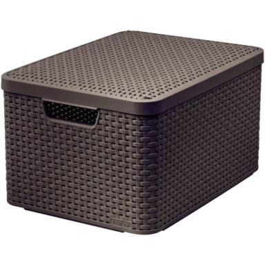 box úložný RATTAN 44,5x33x25cm (L) s víkem, STYLE2, PH HN