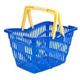 košík nákupní, 2 držadla 38,5x28x25cm PH mix barev,nosn.10kg