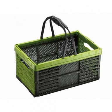 košík nákupní sklád.2 držadla 39x26x19cm PH mix barev
