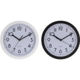 hodiny nástěnné pr.22,6cm PH ČER/BÍ mix