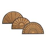 rohož guma+kokos 45x75cm, půlkruh, mix dekorů
