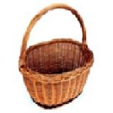 košík nákupní oválný 36x25x30cm, ucho podél, lak., NOVÝ