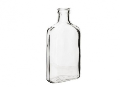 láhev placatka 100ml skleněná