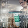 Leifheit vysavač na okna Window Cleaner s mopem a 43 cm tyčí + Sací hubice 17 cm-černá 51016