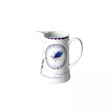 Džbán Toro malý, keramika - motiv levandule, bílý